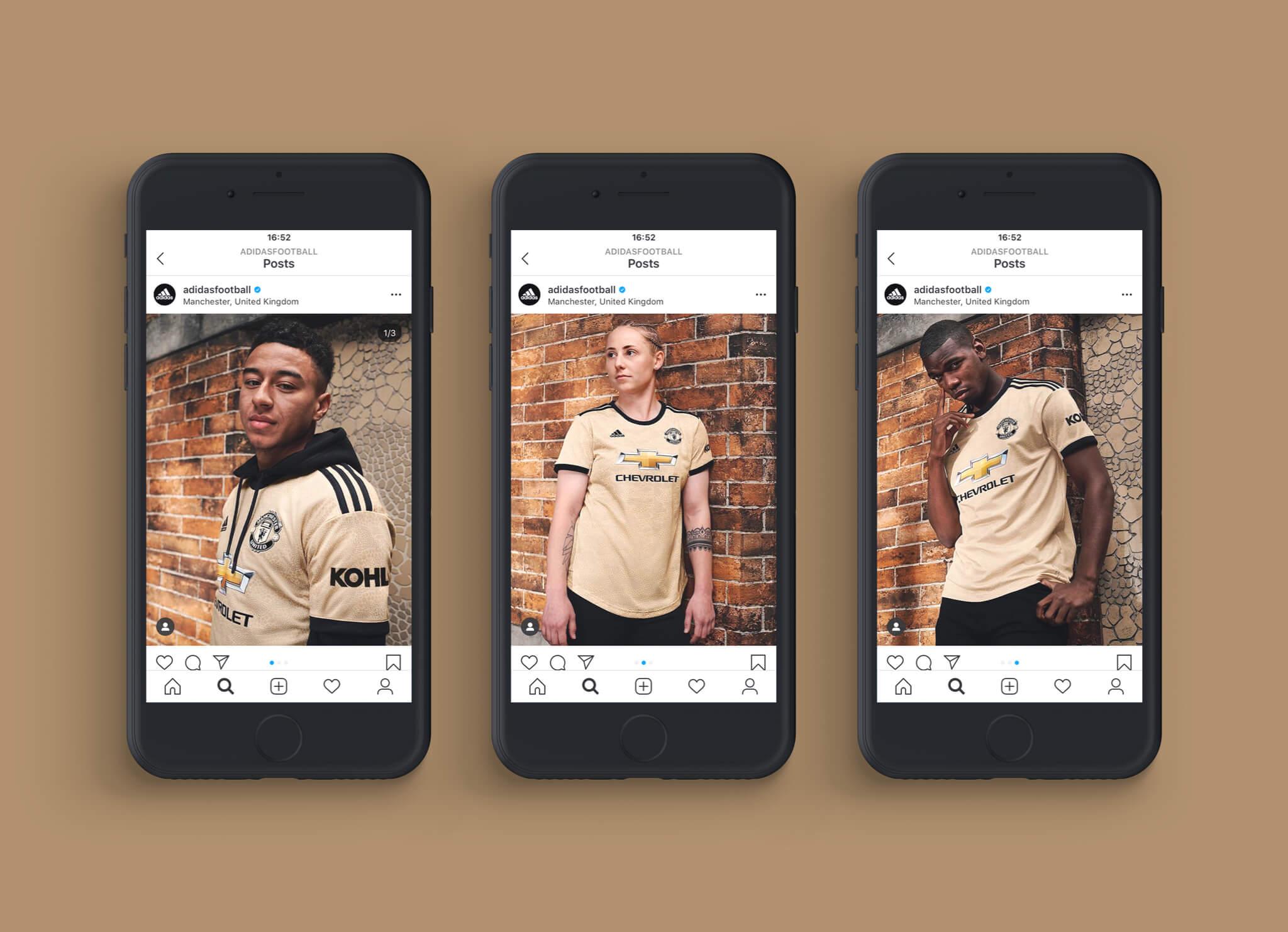 Adidas Man Utd shirts